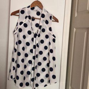 Maternity poke a dot blouse